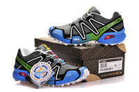Wholesale rain orange - Salomon Speed cross 3 CS III Deep Grey White jade Crosspeed 3 Men country raining Outdoor Running shoes sneakers