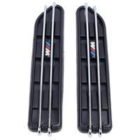 наклейки с вентиляционным отверстием оптовых-2 шт. Воздушный Поток Крыло Боковой Вентиляционный Сетка Наклейка Отверстия Решетки Для BMW E60 E61 E39 E34 M3 E46 M5 E90 C / 5