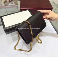 Wholesale tote bags resale online - New Genuine Leather Messenger bag women original box fashion purse lady handbag luxury tote famous brand designer
