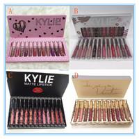 Wholesale purple color lipstick online - Kylie Jenner send me more nude color Matte Liquid Lipsticks Kit Take Me On Vacation kylie Cosmetics Lipgloss Lip Gloss Set