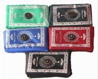 ingrosso bussola musulmana di preghiera-Tappetino da preghiera tascabile islamico a 5 colori con bussola 100 * 60cm tappeto da preghiera musulmano pieghevole coperta impermeabile C176