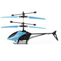 2ch rc helicopter remote control venda por atacado-Flytec 69202 micro 2ch rc helicóptero de vôo de controle remoto de rádio para crianças brinquedo elétrico