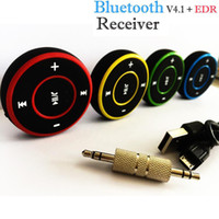 araba stereo için bluetooth dongle toptan satış-2018 3.5mm Kablosuz Bluetooth Ses Stereo Adaptörü Araba AUX Mini-USB Kablosu Müzik Alıcısı Dongle Ücretsiz Kargo