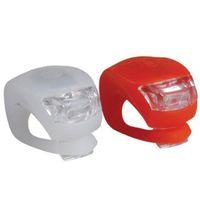 x fahrrad großhandel-2018 Neue 2 x LED Fahrrad Fahrrad Radfahren Silikon Kopf Vorne Hinterrad Sicherheitslicht Lampe # NE827