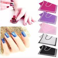 ingrosso chiodi di polka dot-Tappetino per nail art in silicone con motivo a pois a forma di cuore Pad Nail Manicure Clean Cute Foldable Wasable Nail Tools
