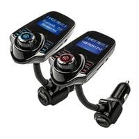 rosa mp3 musik großhandel-MP3-Player-drahtloser Bluetooth tragbarer LCD-Übermittler-Modulator-Auto-Installationssatz-freihändige Unterstützung FM USB-NEUES und hohes Quility Nov22