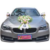 robes de mariée achat en gros de-Eternal Angel Wedding Car Dress Up Fournitures de mariage Factory Eucalyptus Rose Wedding Car Standard Love