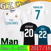 Wholesale Ronaldo T Shirts - 1718 Real Madrid Soccer Jersey 1718 ASENSIO ISCO MARCELO KROOS MODRIC BENEMA BALE T-shirt Jerseys 17 18 RONALDO ASENSIO Football Jeresys
