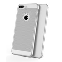 Wholesale Full Black Slip - For iphone 6 7 8 plus cell phone case Radiating Ultra Thin Full Wrapped Reticulated Slim Hard PC Cases Breathable Non Slip cover