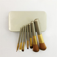 Wholesale iron box brush for sale - Professional Facial Cosmetic Brush Mini Portable With Iron Box Creative Makeup Brushes Tools Lightweight Charm For Women yj jj