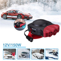 Wholesale 12v defroster fan - Red 12V 150W Auto Car Heater Car Heating Fan Defroster Demister Portable 2 in1 Vehicle Car Dryer Temperature Control Device