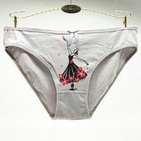 Wholesale cheeky panties online – 5pcs print cartoon teenage Girls cotton cheeky briefs active female underwear panties lovely bragas breathablewholesale89177