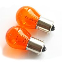 Wholesale turn bulb online - 4pc set W amber bulb Car Styling Light Indicator Lamp Car Turn Siginal Light Fit for standard PY21W BA15s or bulb