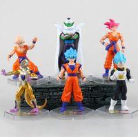 Wholesale Super 55 - 6pcs 1set 55 Generation Dragon Ball Z Action Figures Toys 10cm PVC Dragon Ball Super Goku Action Figures Doll Toy KKA4779