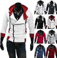 ingrosso assassini creed hoodie cosplay-Giacca da uomo alla moda con cappuccio da uomo Assassins Creed 3 Desmond Miles