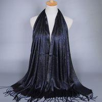 Wholesale Wholesale Silk Thread - New Fashion Bali Yarn Silk Scarf Women Scarves Gold Thread Tassel Fall Gold Wire Hijab Foulard Wholesale Drop Shipping