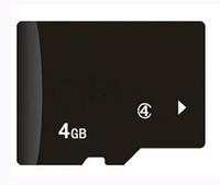 4gb micro sd großhandel-100% echte 4GB Micro Memory SD TF Karte ohne Adapter für Handy MP3 / 4/5 Player Tablet PC 50St