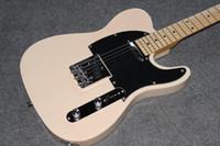 guitarra arca telecaster al por mayor-Custom shop.classical TELE Diapasón de arce Guitarra eléctrica, telecaster crema color guitarra