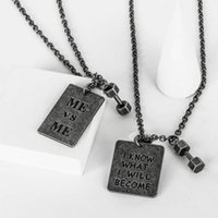 Wholesale dong man - New Fashion Men Women Hip Hop Necklace Stainless Steel ME VS ME Dong Tag Pendant Necklace for Men Women Couple Necklace Jewelry NL-757