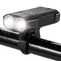 bisiklet aküsü usb toptan satış-3000 Lümen Bisiklet Işık LED USB Şarj Edilebilir Bisiklet Ön Işık 2x XML-T6 Bisiklet Lambası 18650 Pil Dağ Bisikleti Aksesuarları Y1892809