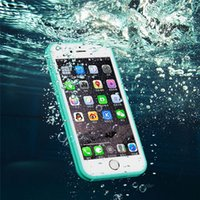 Wholesale waterproof shockproof samsung case online - Waterproof Fashion Silicone Case For Iphone Shockproof Cover For IPhone S Plus Iphone X Water Proof Phone Case