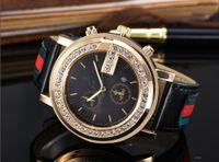 vintage uhrenarmbänder großhandel-Marke damenuhr männer lederband casual liebhaber frauen uhren uhr quarz vintage armbanduhr reloj mujer relogio