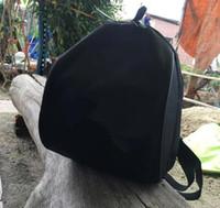 vintage style rucksack rucksack großhandel-Heißer saleing ~ Luxus Berühmte Mode C symbol schwarz Rucksack Reisetasche Vintage Style Retro schwarz Rucksack mit tag beste geschenk