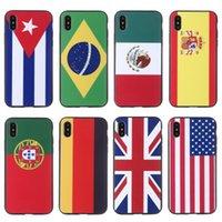 tasse de couverture d'iphone achat en gros de-2018 Coupe du Monde Doux TPU Cas de Téléphone Pour iPhone 6 7 8 X cas Couverture Complète Pour iphone 8 6 7 Plus Protecteur Retour Shell Football Amants
