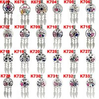 Wholesale plastic pendant beads online - Silver Alloy Mix Dream Catcher Beaty Feather Beads Cage Locket Pendant Diffuser Aromatherapy Perfume Essential Oils Diffuser Boutique gift
