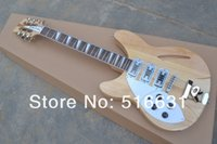 Wholesale Left Hand 12 String Electric - Free shipping Rick 12 strings left hand natural lubricious Electric guitar Wholesale price