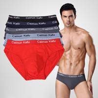 venta de bikini hombre al por mayor-10pcs / lot modelo breve para hombre ropa interior sexy escritos sólidos fábrica venta directa hombres bikini ropa interior más L-5XL 6XL (7XL = un tamaño)