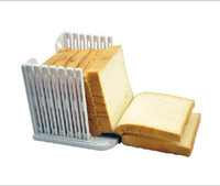 tools bread pastry NZ - Wholesale- Bread Slicing Tools Bread Loaf Toast Sandwich Slicer Cutter Mold Maker bakery and pastry tools kitchen tools