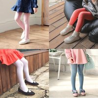 Wholesale wholesale childrens tights leggings - New Baby Girls Velvet Pantyhose Girls Kids Candy Color Dance Stockings Childrens Ballet Tights Spring Soft Leggings 15Colors 2-12T
