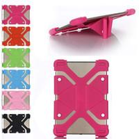 стойка для бампера оптовых-Универсальный силиконовый чехол для планшета Защитная крышка подставки Рамка для iPad mini pro для Samsung galaxy tabTablet Opp Bag