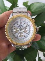 смотреть мужчин оптовых-2018 качество новый бренд автоматические мужские часы NAVITIMER черный циферблат синий мода мужские часы