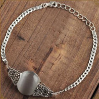 Wholesale sterling silver chain types resale online - BFQ Sterling Silver Bracelet Agate Fashion Women s Party Geometric Type Hand Chain Top Shipping