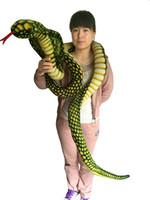 ingrosso giocattoli animali giganti-2018 Promozione 9 piedi di peluche a forma di serpente grande farcito con animali realistici farciti bambole giganti di boa gigante, verde