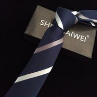 erkekler sıska kravat toptan satış-1200 İğneler 6 cm Erkek Bağları Yeni Adam Moda Nokta Kravatlar Corbatas Gravata Jakarlı Ince Kravat Iş Yeşil Erkekler Için kravat