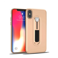 Wholesale paint phone case online – custom Ultrathin TPU Shock proof Stealth Bracket Phone Cases For Iphone X plus Leather Paint Hand Feeling Soft Shell For Samsung S9 S9 plus