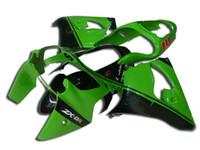 ingrosso set di fissaggio zx9r-K267 Kit carenatura plastica verde ABS per KAWASAKI Ninja ZX9R 00 01 Set carenature moto ZX-9R ZX 9R 2000 2001 + 7 regali
