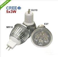 Wholesale 5x3w 15w spotlight bulb resale online - Led Spotlight x3W W MR16 GU10 E27 Dimmable LED SpotLight Bulb Lamp Aluminum Spotlight LED Bulbs Warm Cool White Lighting Bulb