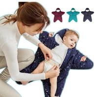 nachahmung baby kleidung großhandel-Insular Starfish geformt Babyschlafsack aus reiner Baumwolle Split Bag Cartoon Baby Swaddle Wrap Winter warme Kleidung Säugling