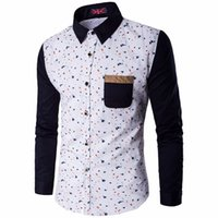 Wholesale Mens Dress Shirts Polka Dot - Spring New Polka Dot Shirt White Men Long Sleeve Mens Dress Shirts Casual Slim Fit Chemise Homme Camisa Hombre Plus Size M-5XL