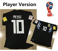 Wholesale patch player - Player Version 2018 Argentina away Soccer Jersey #10 MESSI #7 DI MARIA #21 DYBALA Top Quality Football Shirt Custom With Patches