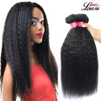 weave reto do cabelo humano do kinky afro venda por atacado-Não transformados Grau 8A Cabelo Brazalin Afro Kinky Em Linha Reta Tecer Extensões de cabelo Humano Brazialin Virgem Do Cabelo Humano Kinky Em Linha Reta 3 feixes