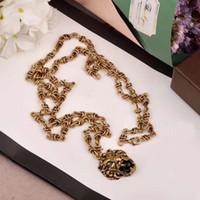 leopardo colares venda por atacado-Clássico Europa e pingentes de moda leopardo americanas colares de cobre designer de ouro amarelo 18K banhado jóias partido para mulheres ou homens dom PS