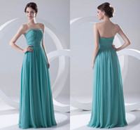 Wholesale chiffon strapless beach wedding dresses for sale - Group buy Real Pictures Pictures Cheap Chiffon Bridesmaid Dress Strapless Formal Maid of Honor Wedding Guest Dresses Cheap Long ZPT185