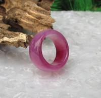achat produkte großhandel-19.4 mmNatural lila Achat Ring erweitert verdickt Braune Chalcedon Ring Pull Korrektur Produkte für Männer und Frauen