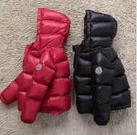 горячие снежные куртки оптовых-Горячая продажа зимой пуховик утепленные для девочек мальчиков пальто, 90% вниз куртки детской одежды для зимней одежды детей верхней одежды пальто еТ-1еТ