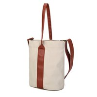 женская одежда оптовых-2018 Art and Small Fresh Color Canvas Bucket Bag for Women  Handbags Ladies Bags Designer Tote Bags Shoulder Bag